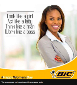 Bic woman's day ad